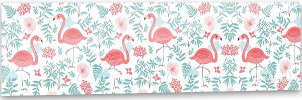 konyhai fali panel flamingok