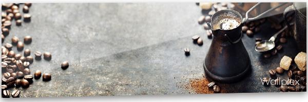 konyhai fali panel kávés