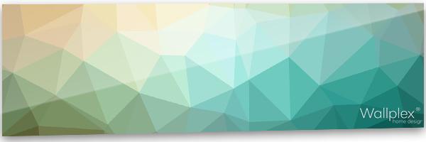 konyhai fali panel polygonal minta
