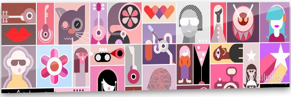 konyhai fali panel pop up art