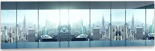konyhai fali panel városi kilátás