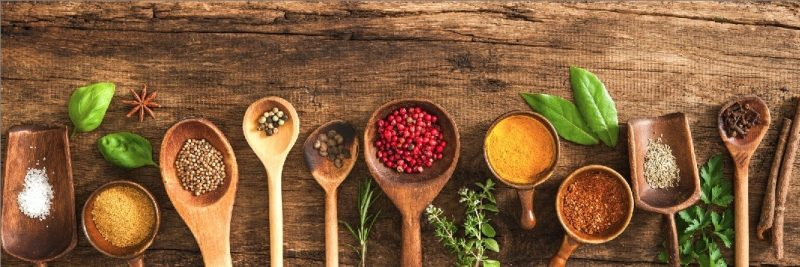konyhapanel fűszerek