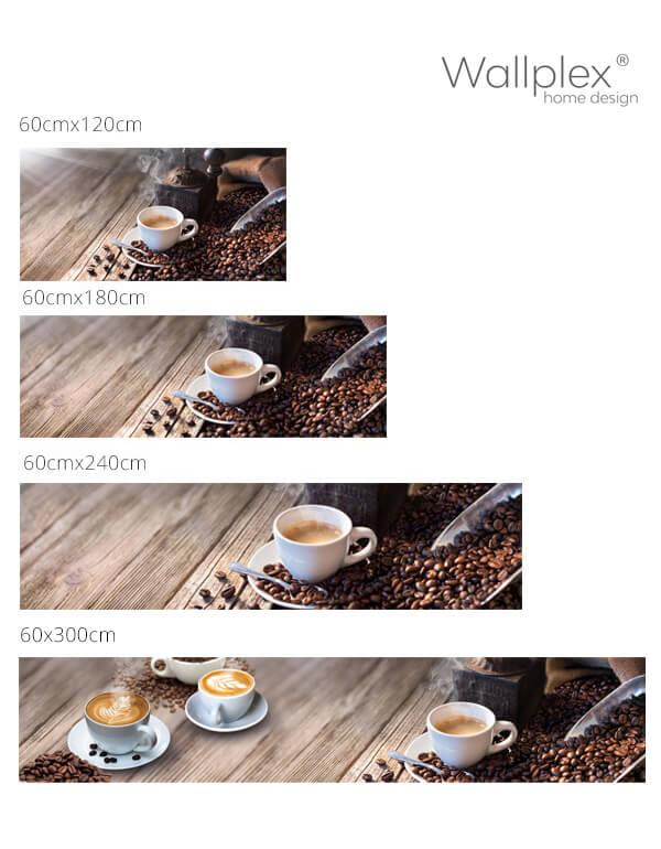 kávé konyhapanel méretek
