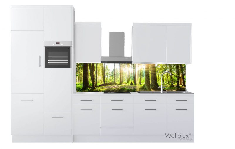 wallplex konyhapanel erdő termékkép fehér