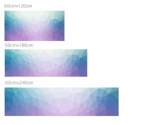 Mérettábla polygonal lila