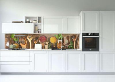 Fűszeres konyha hátfal