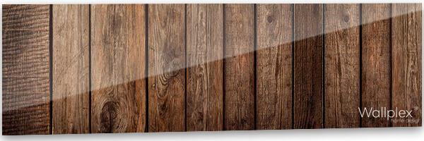konyhai fali panel barna deszka