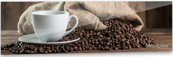 konyhai fali panel kávéscsésze