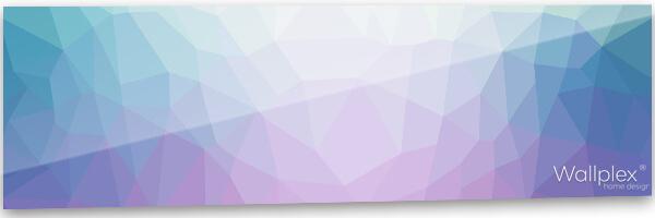 konyhai fali panel lila polygonal