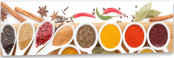 konyhai fali panel színes fűszerek