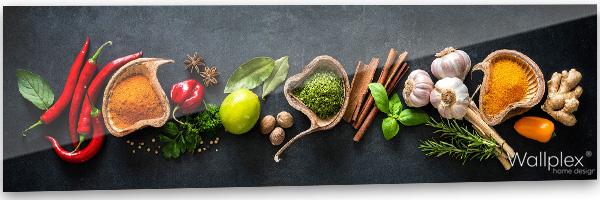 konyhai fali panel zöldfűszerek