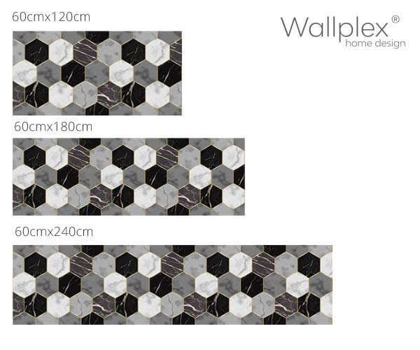wallplex konyha hátfal hexagon