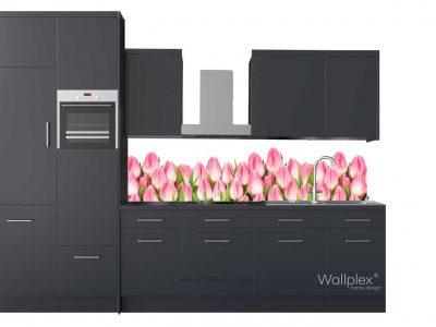 wallplex konyha hátfal rozsaszín tulipánok termékkép