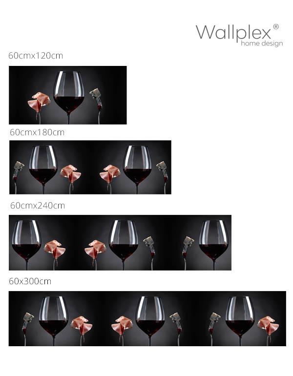 bor és sonka konyhahátfal