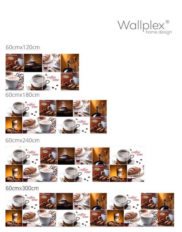 coffe time konyhapanel mérettábla