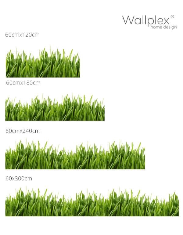 mérettábla konyhapanel fű