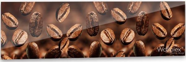 konyhai fali panel kávé