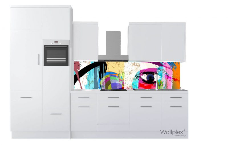 wallplex konyhapanel color eye termékkép fehér
