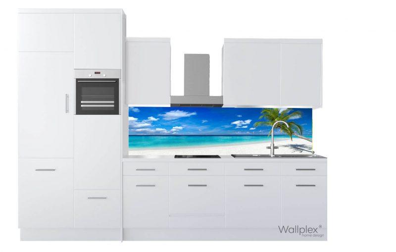 wallplex konyhapanel tengerpart termékkép fehér