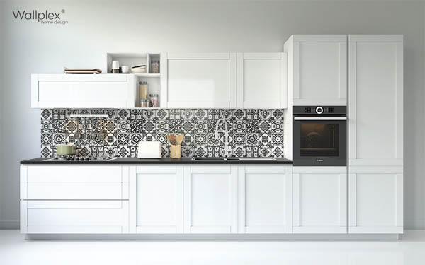 minta konyhapanel fekete mozaik