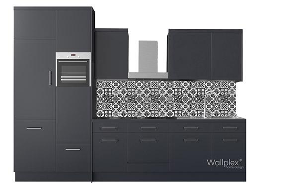 minta konyha fekete mozaik
