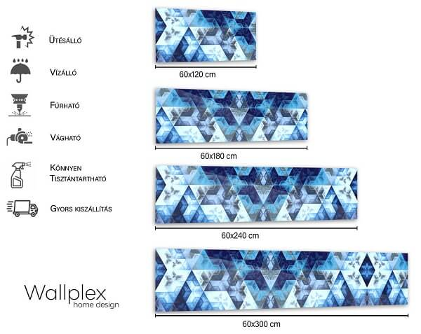 konyhapanel méretek kék prizma