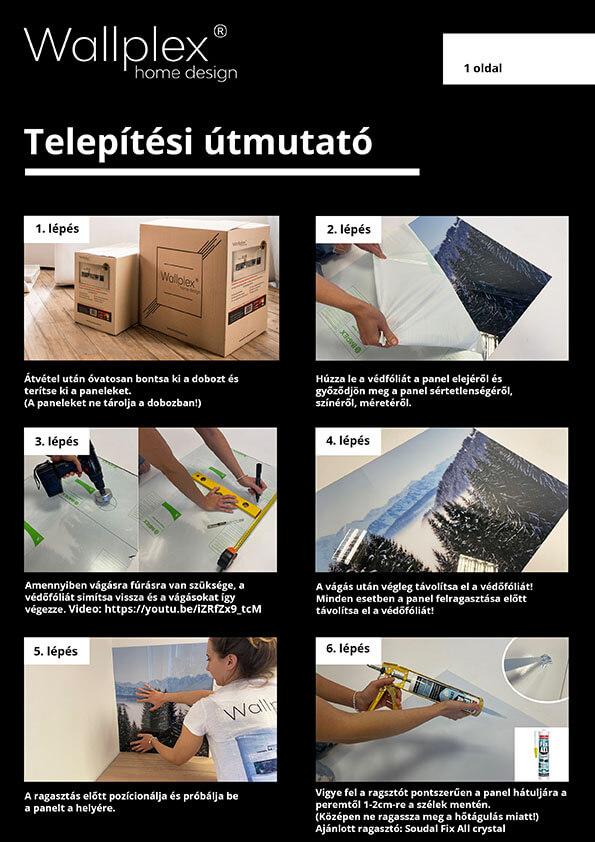 wallplex telepítési útmutató 1
